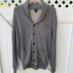 J crew gray buttoned cardigan size: M